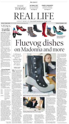 Public relations to launch Fluevog Shoes in Calgary