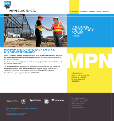 Part of the strategy, marketing & communications team for MPN Electrical