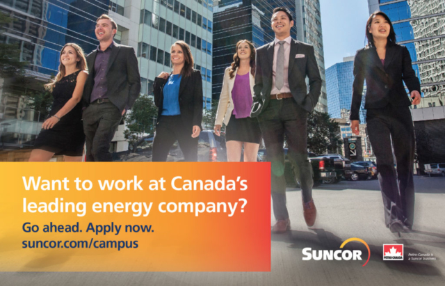 Part of the marketing & communications team for this Suncor recruitment campaign
